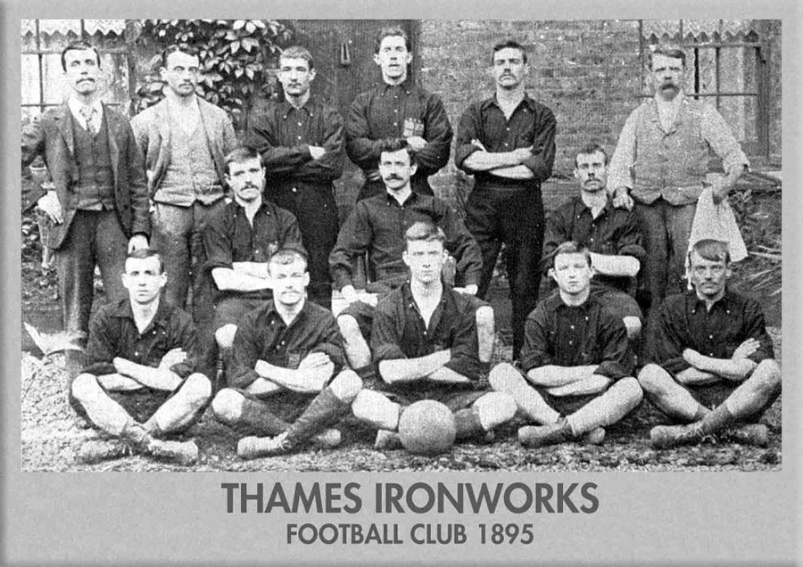 picture of Thames Ironworks team 1895