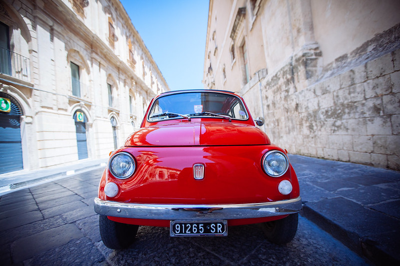Fiat on the streets of Noto