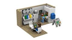 Lego MOC Travel Agency - Internal View