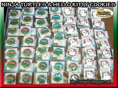 NINJA TURTLES & HELLO KITTY FANCY COOKIES