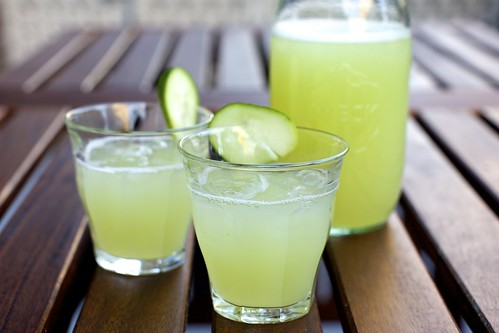 cucumber lemonade on the deck!