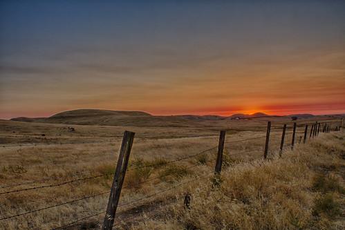 california sunset fence hills redhills