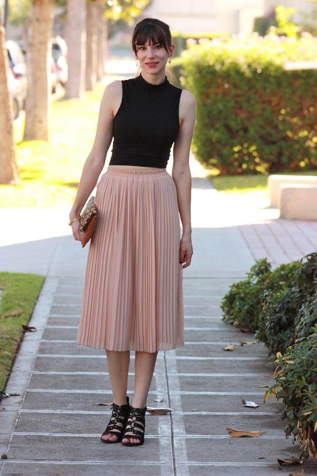Midi Skirt, Crop Top