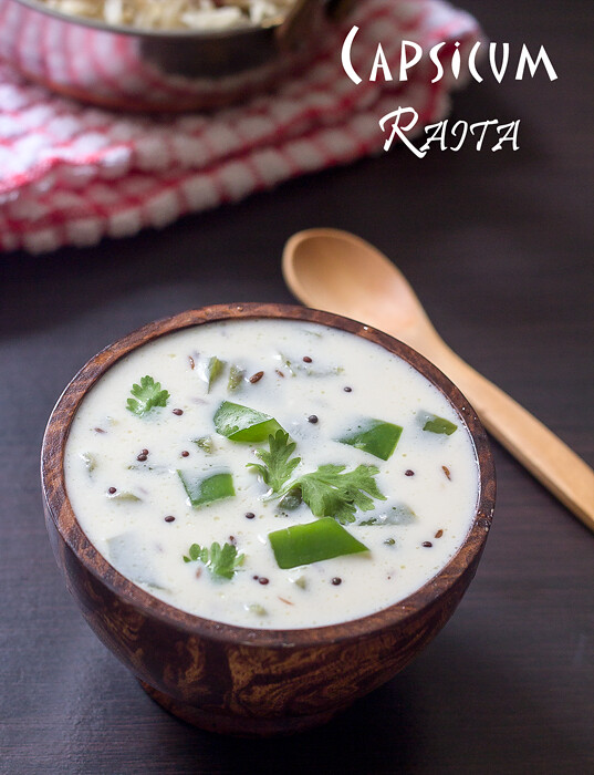 how to make capsicum raita