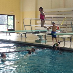 Big diving board!  #bravegirl