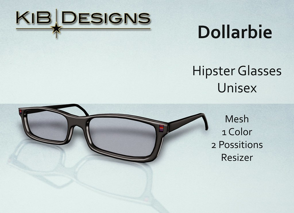 KiB Designs - Hipster Glasses Unisex - Dollarbie for Hipster Fair 2017 - SecondLifeHub.com