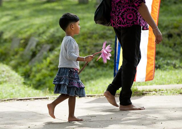 SL027 Sinhalese girl - Anuradhapura 02 - Sri Lanka