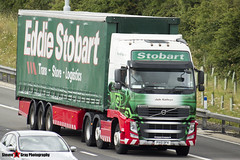 Volvo FH 6x2 Tractor with 3 Axle Curtainside Trailer - PX10 DFK - H4461 - Jade Kathryn - Eddie Stobart - M1 J10 Luton - Steven Gray - IMG_6907