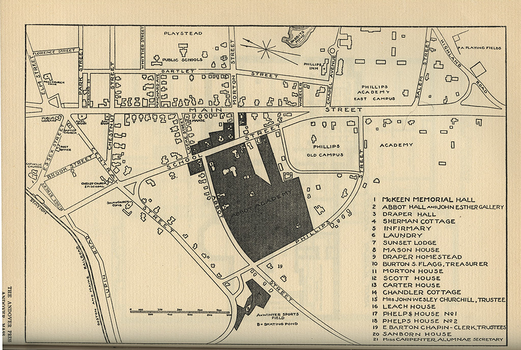 Phillips Exeter Academy Campus Map.Abbot Academy Campus Map 1932 Phillips Academy Archives And