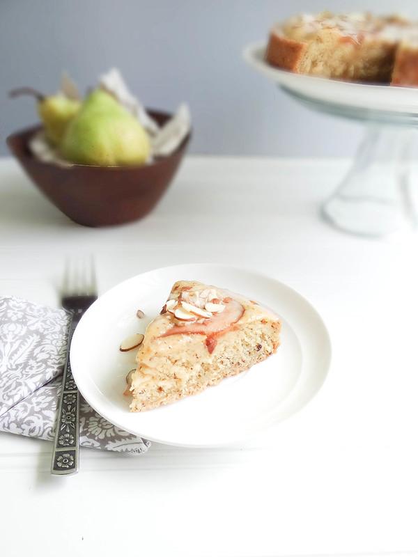 almond pear cake