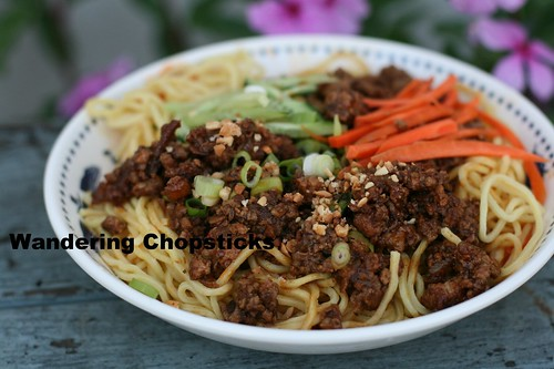 Zha Jiang Mian (Chinese Fried Sauce Noodles ie. Chinese Spaghetti) 3