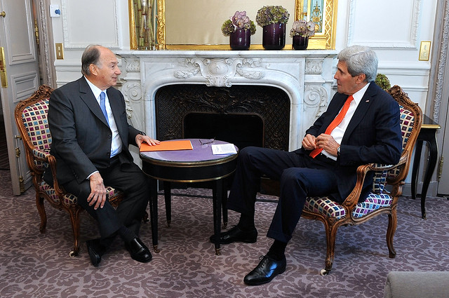 us secretary kerry meets with his highness the aga khan in paris ismailimail. Black Bedroom Furniture Sets. Home Design Ideas