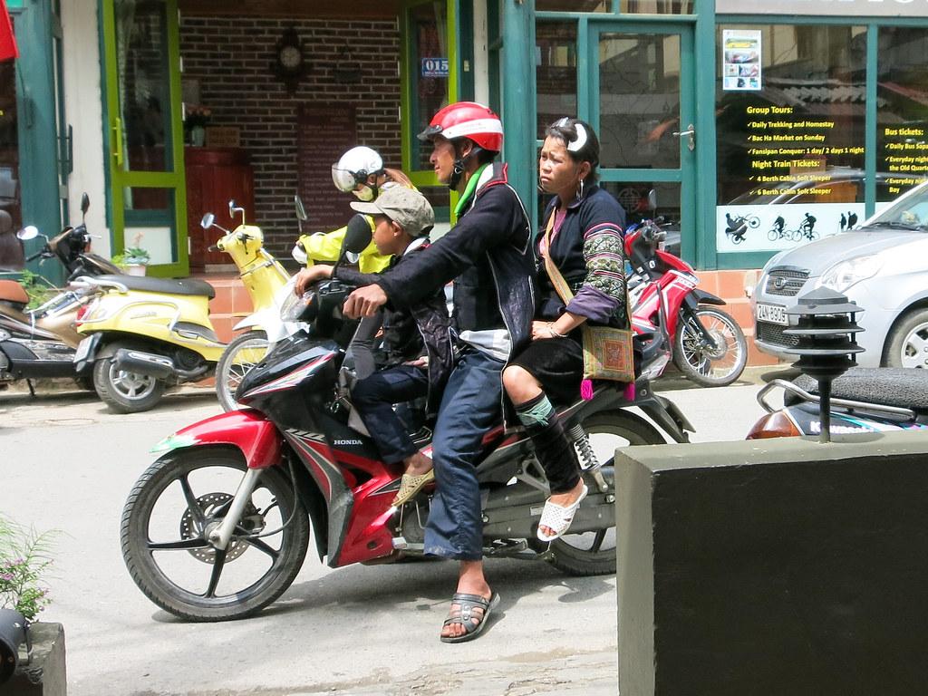 Black Hmong motorbike