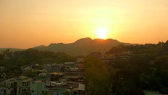 Sunset over the Cheongwadae