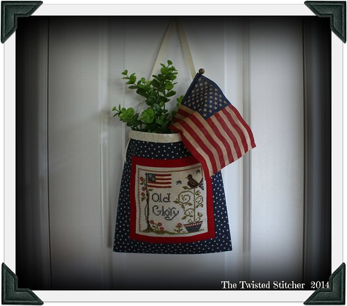 Little House Needleworks_Old Glory_Ditty Bag filled and hung