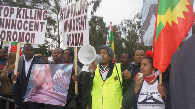 #OromoProtests Solidarity Rally in Canberra, Australia