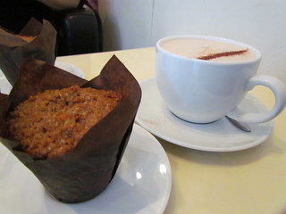 Vegan Breakfast Muffin and Chai at Agro Cafe