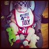 My nephew had an eventful 1st parade. #murica