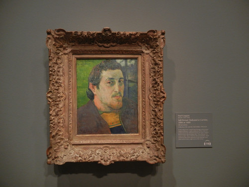 DSCN1844 _ Self-Portrait Dedicated to Carrière, 1888 or 1889, Paul Gauguin, National Gallery of Art at Legion of Honor