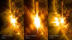 Sun Emits 3 X-class Flares in 2 Days