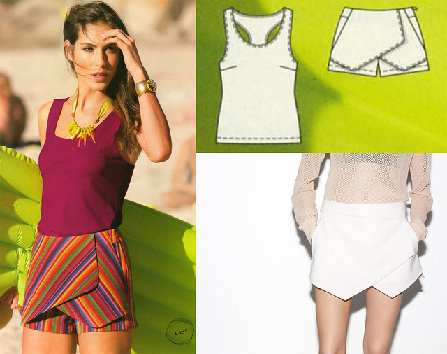 Burda-June-2014_Zara Skort Lookalike