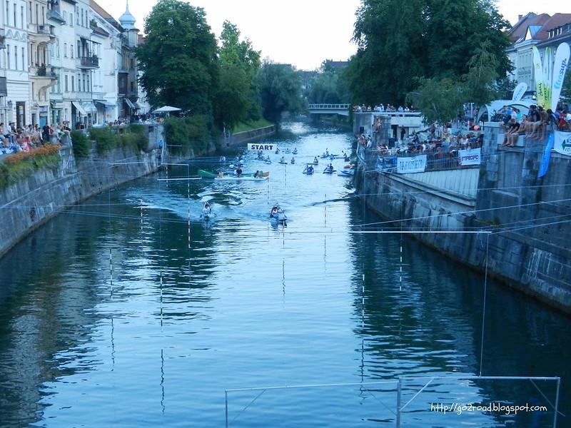 Соревнования на реке Любляница
