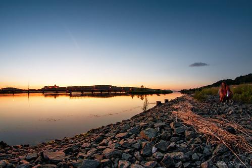 sunset water river nikon fort solnedgång götaälv fästning kungälv bohus samyang