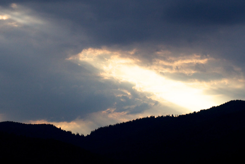 sunset in mountains. Bukovel, Carpathians, Ukraine