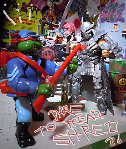 """MUTANT MILITARY 2"" TEENAGE MUTANT NINJA TURTLES ::  YANKEE DOODLE RAPH  xv // .. vs. NINJA TURTLES Movie ""SHREDDER"" '14 (( 1992 ))"