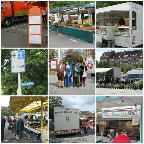 Collage Wochenmarkt in Kiel: Exerzierplatz
