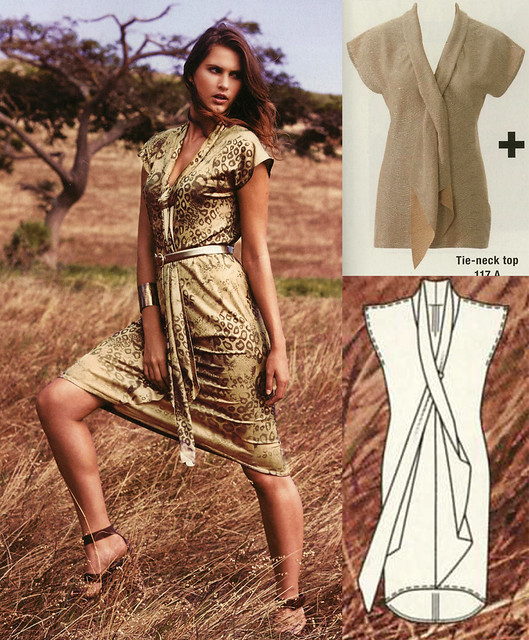 Burda-July-2014 Scarf Dress