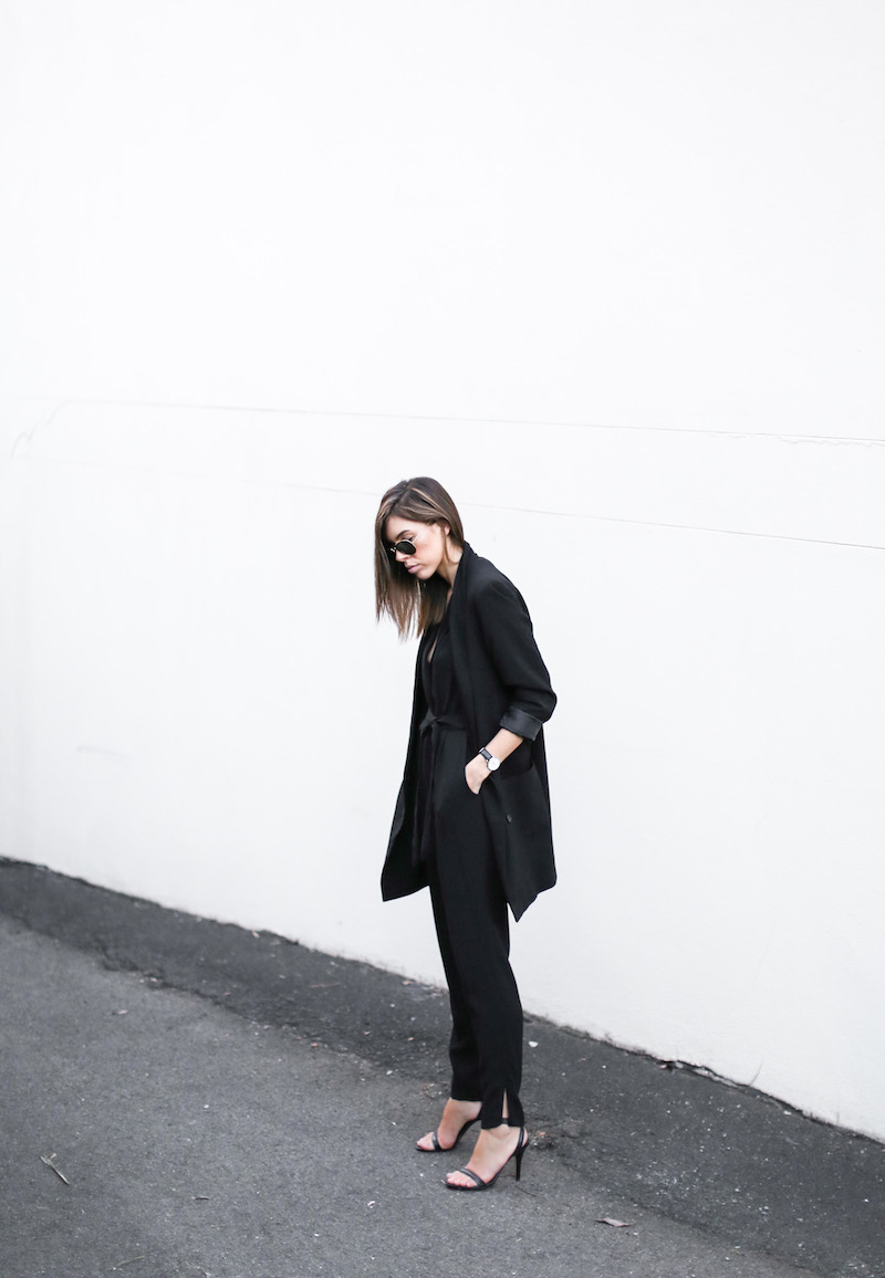 modern legacy fashion blog australia office wear Witchery jumpsuit street style all black Alexander Wang Antonia heels Monki oversized boyfriend blazer  (6 of 8)