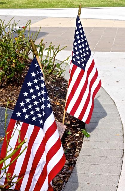 Header of American Flags
