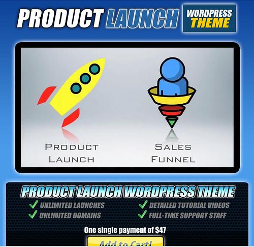 『Product Launch WordPress Theme』(プロダクトローンチ・ワードプレス・テーマ)の販売ページ(セールスレター)