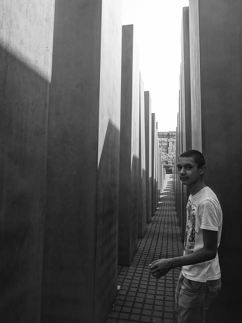 Passing through the Memorial to the Murdered Jews of Europe