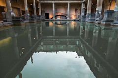 swimming pool(0.0), canal(0.0), waterway(0.0), water(1.0), reflecting pool(1.0), reflection(1.0), thermae(1.0),