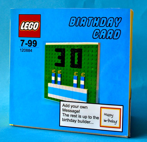 Tom's LEGO birthday card