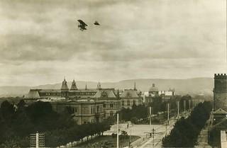 Flying over Adelaide, 1914.