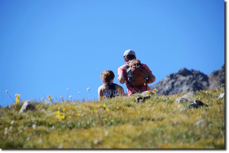 Hikers on their way to Grays Peak 3
