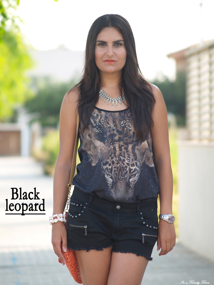 OUTFIT BLACK LEOPARD