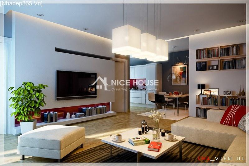 Thiết kế nội thất chung cư La Khê - Hà Nội_1