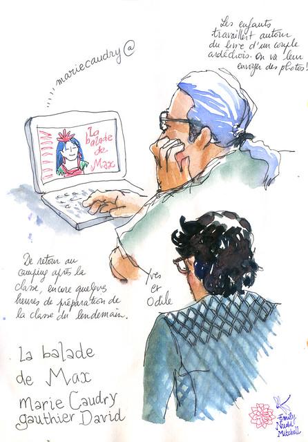 Saintes-Maries-de-la-mer---Yves-et-Odile-a-l-ordi