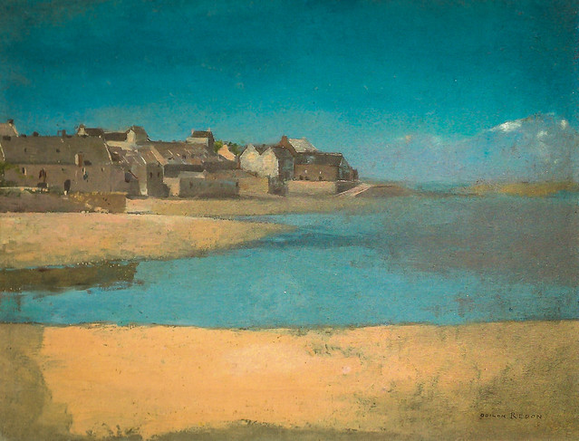Odilon Redon - Village by the Sea in Brittany, 1880 at National Art Gallery Washington DC