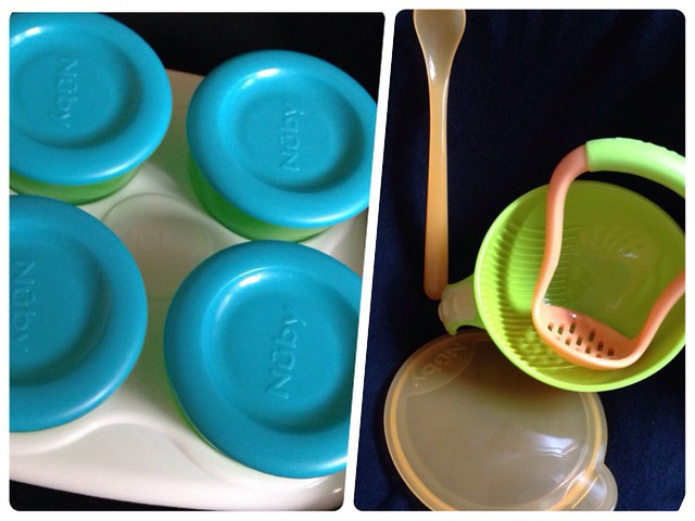 Nuby 鮮果園系列副食品工具:副食品儲存盒+研磨碗