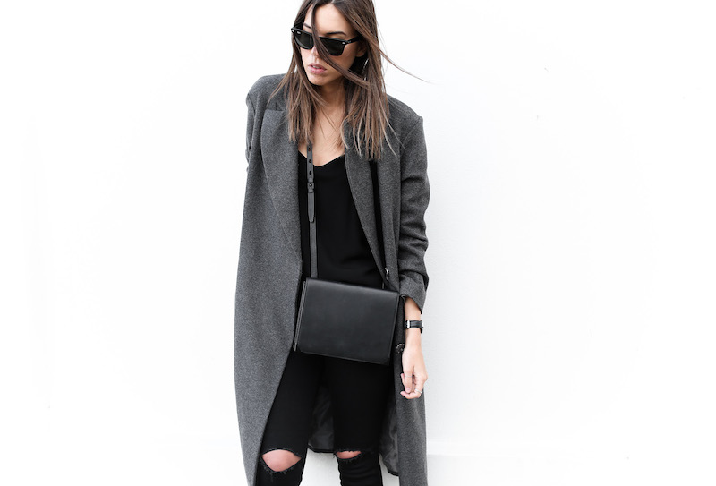 modern legacy fashion blog Australia street style off duty ASOS long grey oversized coat Lee ripped knee black skinny jeans Helmut Lang oxfords Alexander Wang Prisma bag (8 of 13)