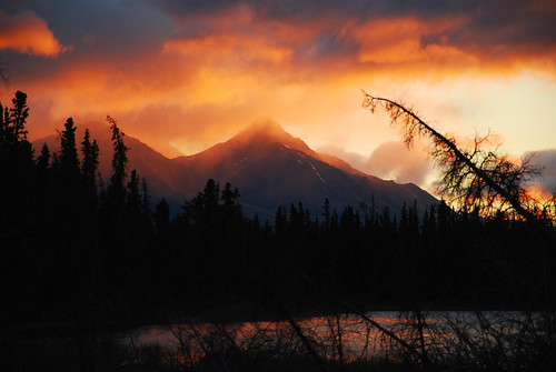 trees sunset red clouds landscape fire nikon yukon montains d80 nikonflickaward