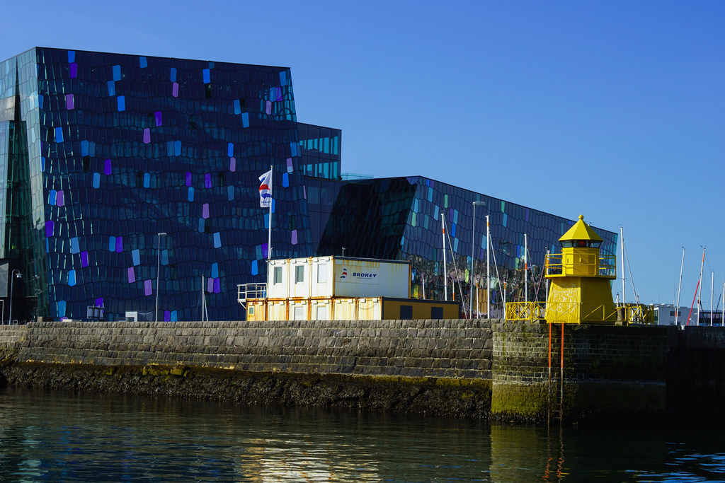 Lighthouse And Harpa Concert Hall