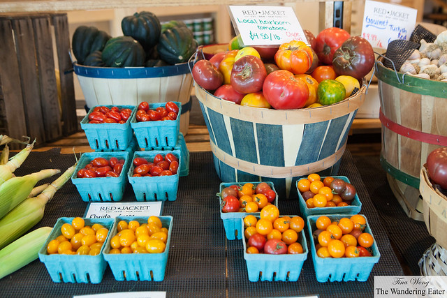 Gorgeous tomatoes at Red Jacket Farmstore