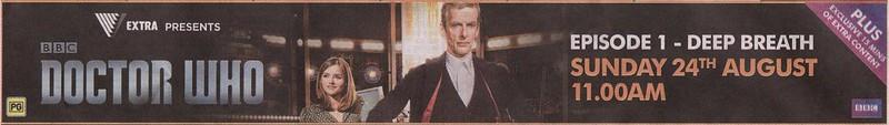 Doctor Who: Deep Breath cinema ad, The Age, 15/8/2014