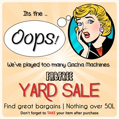 FabFree Gacha Yard Sale Poster